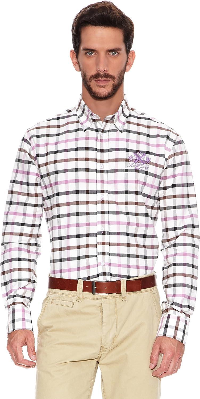 Spagnolo Camisa Hombre Crema/Rosa M: Amazon.es: Ropa y accesorios