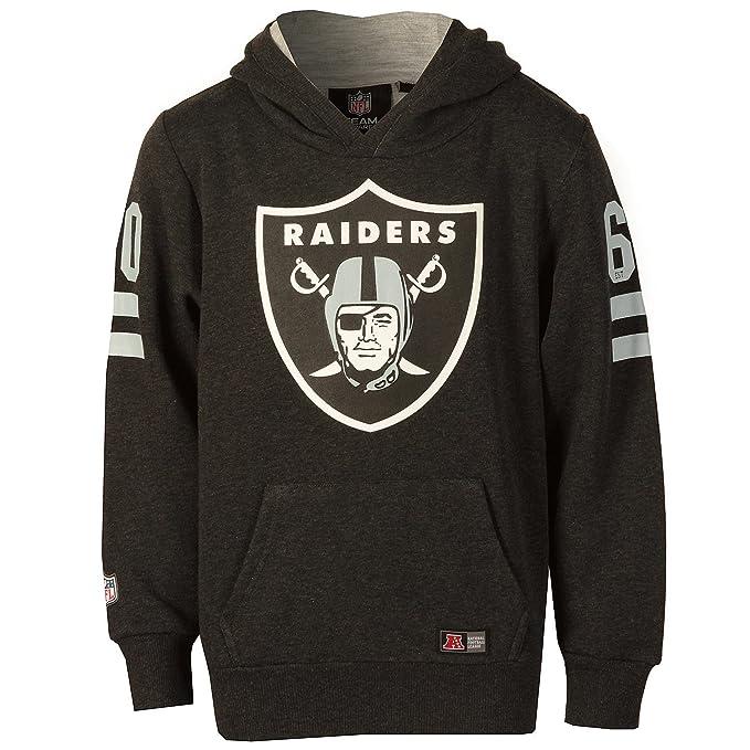 Majestic  sudadera con capucha de los Oakland Raiders para chico (gris) 07948c227e4