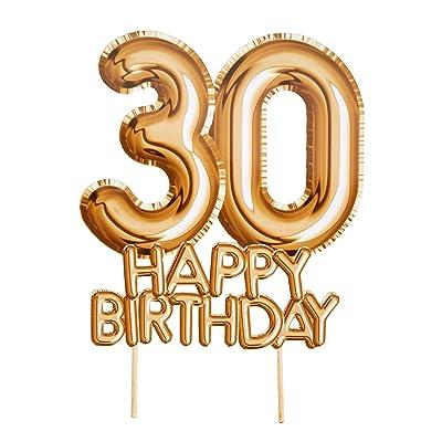Neviti- Glitz & Glamour-Cake Topper-Gold-Age 30 Figura para tartas (773604): Juguetes y juegos