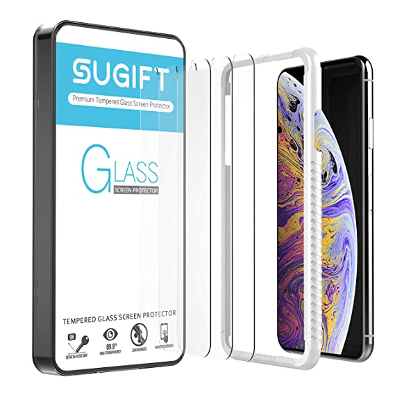 Maxboost Screen Protector for Apple iPhone Xs Max Work with Most Case 99/% Touch Sensitiv 0.25mm iPhone Xs Max Tempered Glass Screen Protector w//Advanced Clarity 3D Touch 6.5 inch Clear, 3 Packs