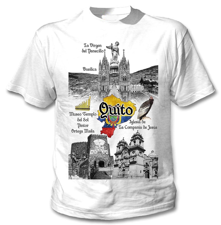 teesquare1st Ecuador Quito Camiseta Blanca para Hombre de ...