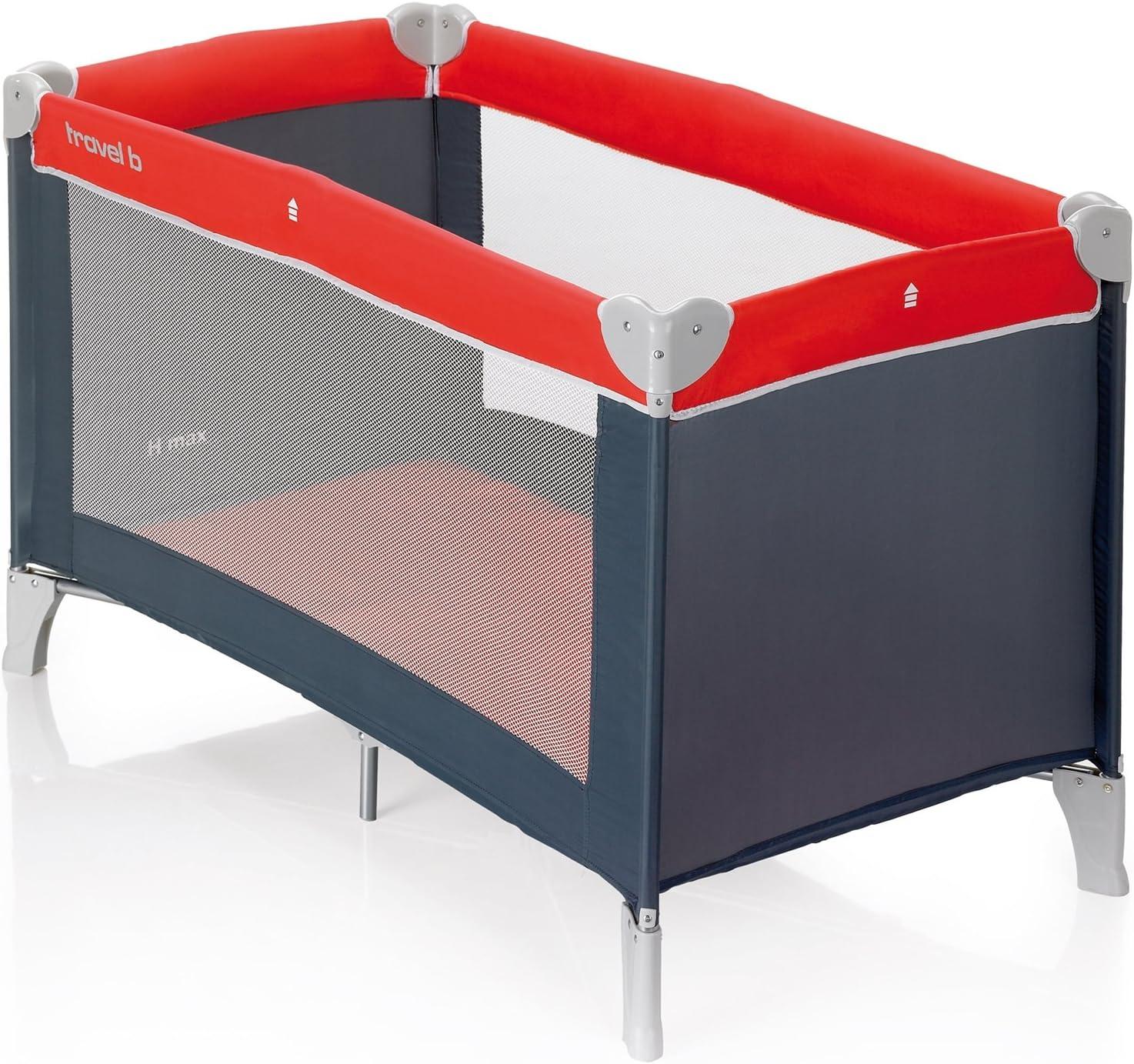 Brevi Lit pliant Dolce Nanna Plus avec bassinette Rouge