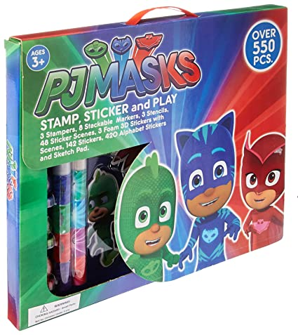PJ Masks Stamp Sticker and Play Set - Over 550 Pieces