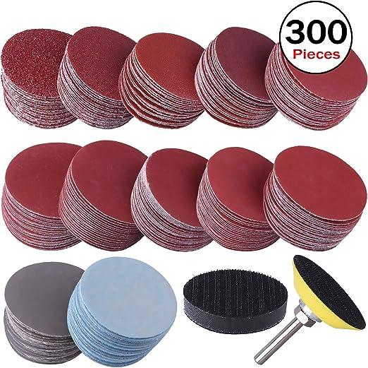 12,7/cm 800/1000/1500/2000/3000/Grain Disques abrasifs Coussinets Hook Loop orbital papier abrasif