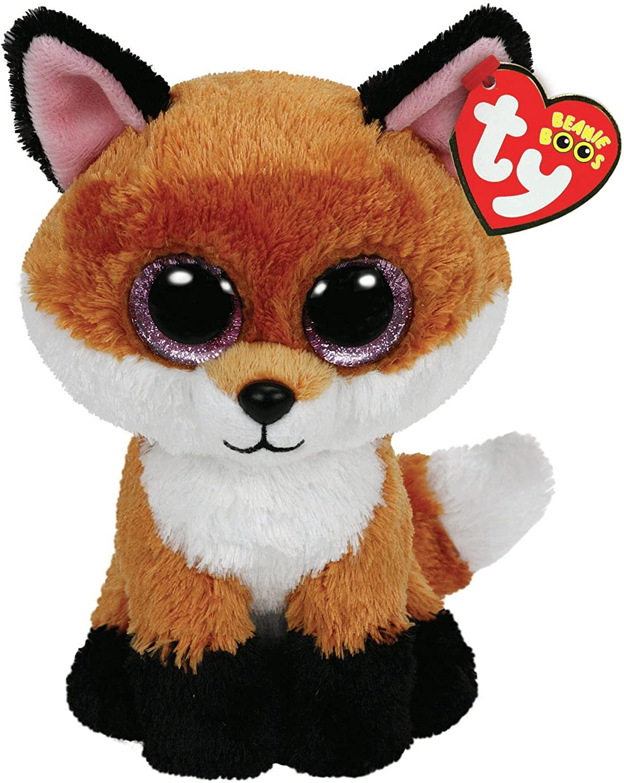 Alaska Stuffed Animals, Amazon Com Ty Beanie Boos 6 Inch Slick Brown Fox Plush Toys Games