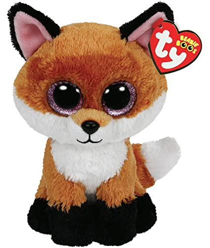 Amazon.com  Ty Beanie Boos 6-Inch Slick Brown Fox Plush  Toys   Games a8fa2692b4