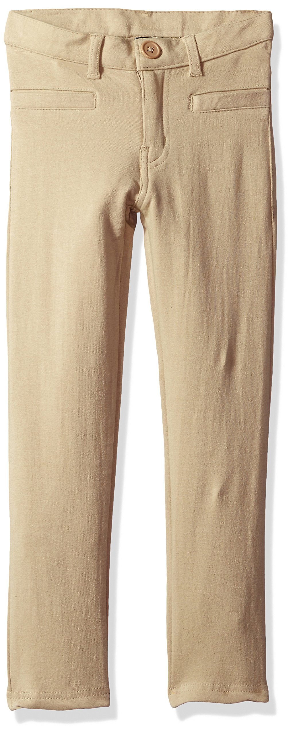 U.S. Polo Assn. Big Girls' Stretch French Terry Moleton Pant (More Styles Available), Khaki-AHEC, 12