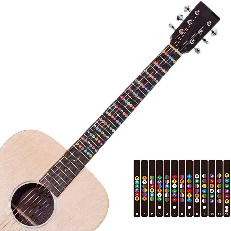Pegatinas para trastes de guitarra con código de color para ...