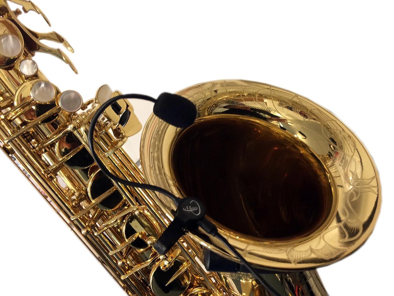 El plumas Saxofón con micrófono flexible micro-goose cuello by Myers Pastillas ~ Ver es en acción. Copy And Paste: myerspickups. com Mye-1434