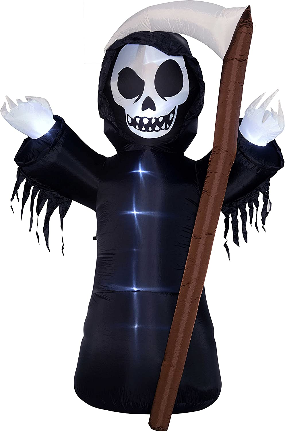 NEW INFLATABLE SCYTHE SPOOKY SCARY GRIM REAPER HALLOWEEN TOY PROP 100CM HB