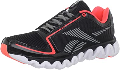 Reebok Men's Ziglite Running Shoe,Black/Vitamin C/Flat Grey/White,