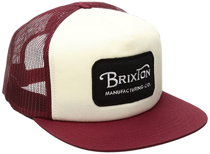 2e741f709 Brixton Men's Grade Mesh Cap, White/Burgundy, ONE: Amazon.ca ...