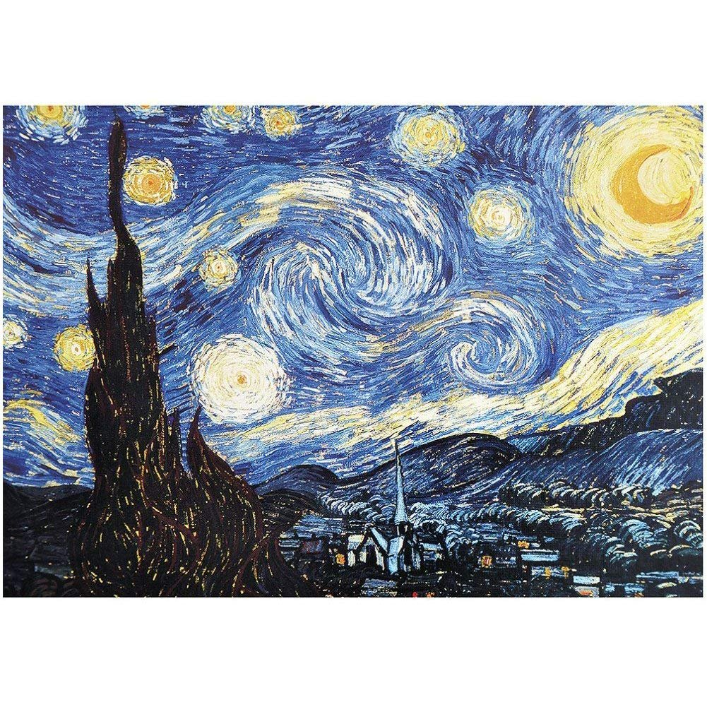 【在庫一掃】 Jigsaw Puzzle Family 1000 Pieces for Adults Spending and Kids- Puzzle Oil Painting The Starry Night by Van Gogh- Spending Time Together and Toy Gift for Teens Men Women Family Friends B079C2F75R, ベルーナ:61533ad3 --- a0267596.xsph.ru