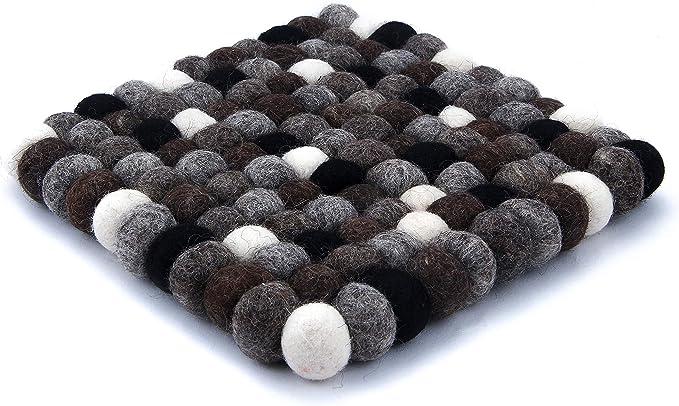 Topfuntersetzer Filzuntersetzer 18 cm quadratisch 100/% Wollfilz