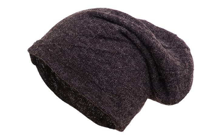 shenky - Cappello dal Taglio Lungo - Tinta Unita - Antracite - Taglia Unica 327733be8b59