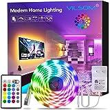ViLSOM Led Strip Lights 16.4ft RGB 5050 LEDs Color Changing Light Strip Kit with Remote and 12V Power Supply Led Lights…