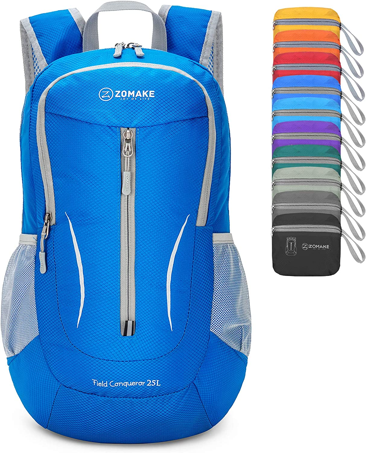 ZOMAKE Small Hiking Backpack, 25L Lightweight Travel Backpack Packable Backpack Daypack for Women Men
