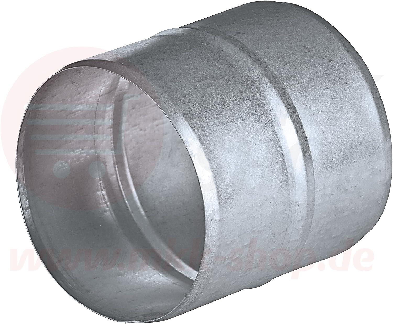 Rohrverbinder /Ø 110 mm L/üftungsrohr aus verzinktem Stahlblech Rundrohr Rundkanal Abluft-Rohr Abluftkanal Dunstabzug Kanal Rundrohrsystem Flexrohrverbinder Verbinder Nippel Wickelfalzrohr Alu-Flex-Rohr ZM110