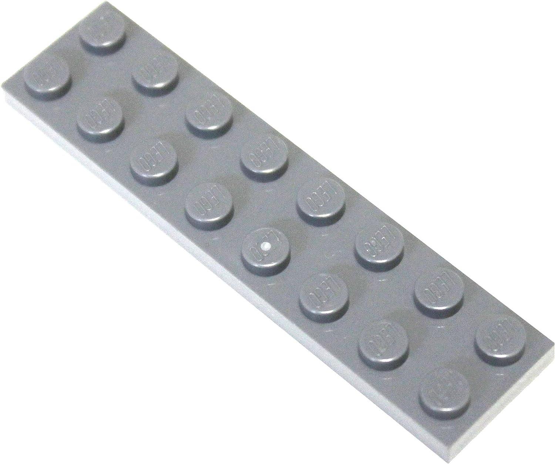 LEGO Parts and Pieces: Dark Gray (Dark Stone Grey) 2x8 Plate x100