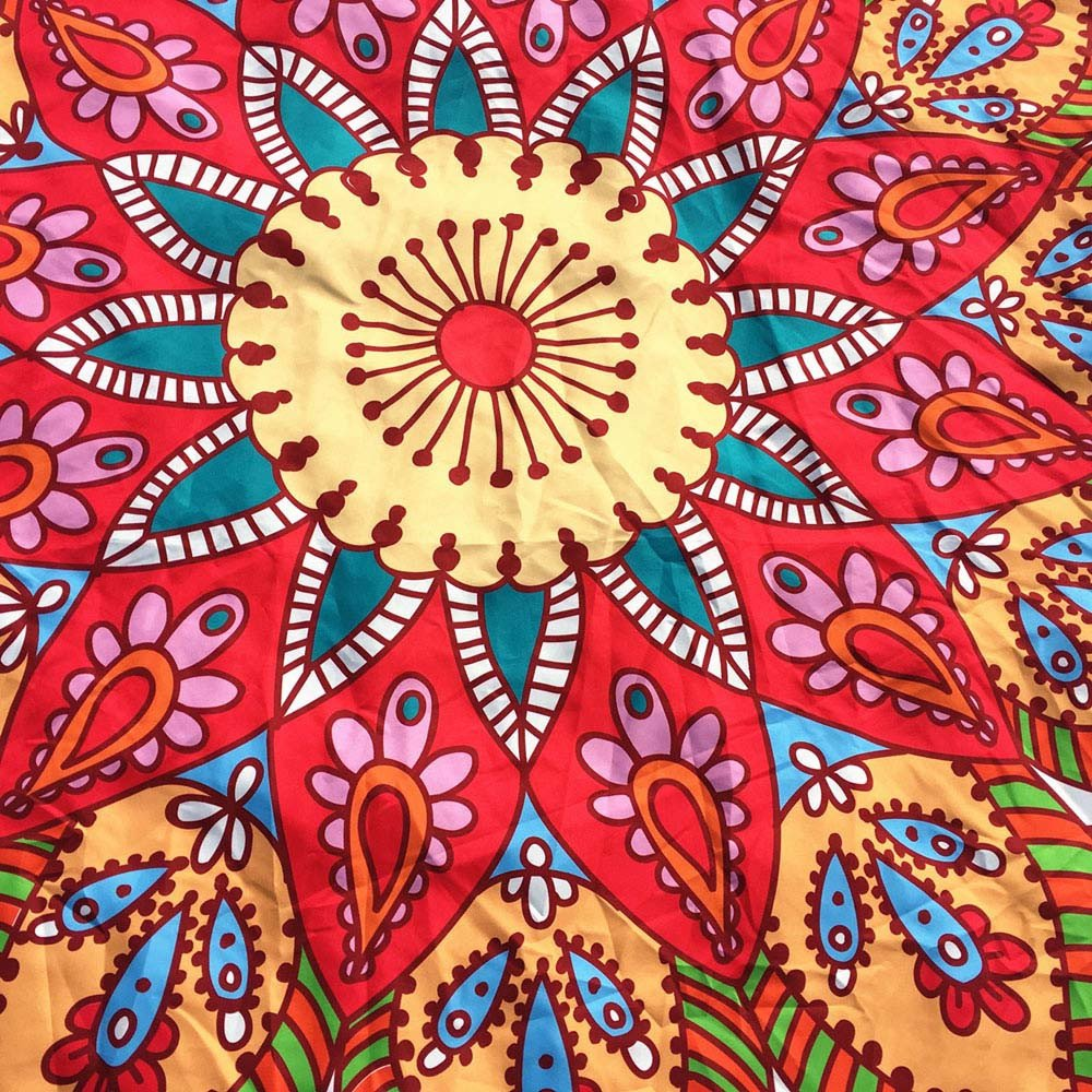 NRUTUP Round Printing Hippie Tapestry Beach Picnic Throw Yoga Mat Towel Blanket Clearance Hot Sales(White,A) by NRUTUP (Image #4)