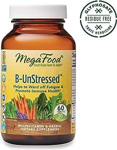 MegaFood, B-UnStressed, Helps Ward Off Fatigue, Multivitamin and Herbal Supplement, Vegan, 60 Tablets (30 Servings) (FFP)