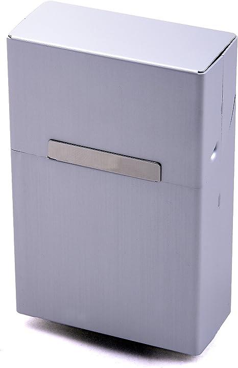 Caja de Cigarrillos Metal Aluminio Zigarettentui Caja del cigarrillo Caja para cigarrillos - Más Colores a elegir - Plata: Amazon.es: Hogar