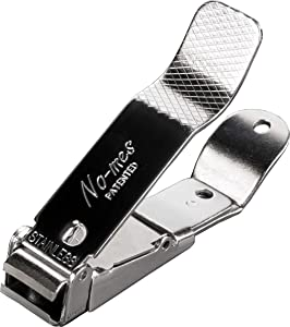 No-mes Toenail Clipper, Catches Clippings, Patented Ergonomic Grip, Made in USA