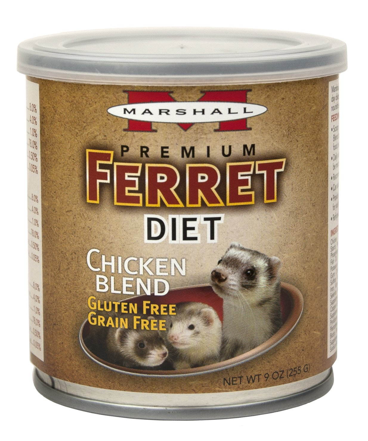 Amazon.com : Marshall Pet Prod-Food Fd-430 New Premium Ferret Diet Topper - Chicken Blend Pet-Food, 9 Oz : Pet Supplies