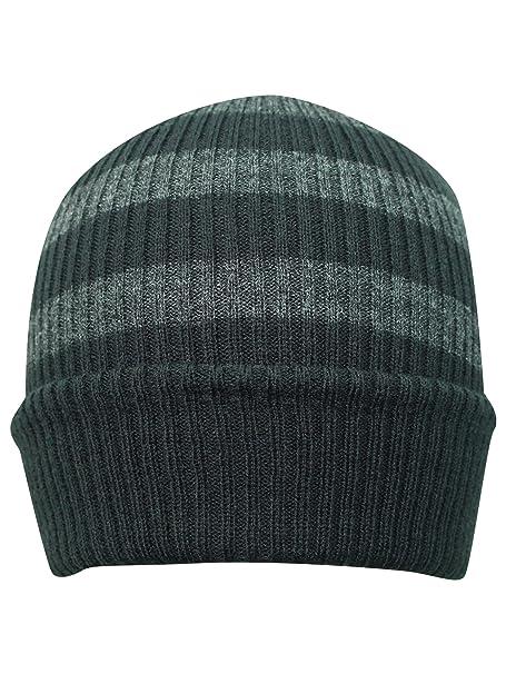 c4fc351f1ef8c6 Luxury Divas Dark Gray Striped Knit Slouchy Beanie Cap Hat at Amazon  Women's Clothing store: