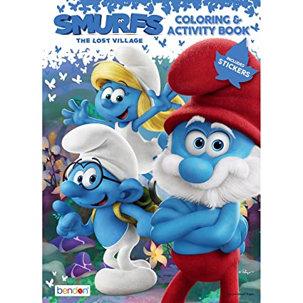 Bendon Smurfs The Lost Village Movie Coloring Activity Book 89181