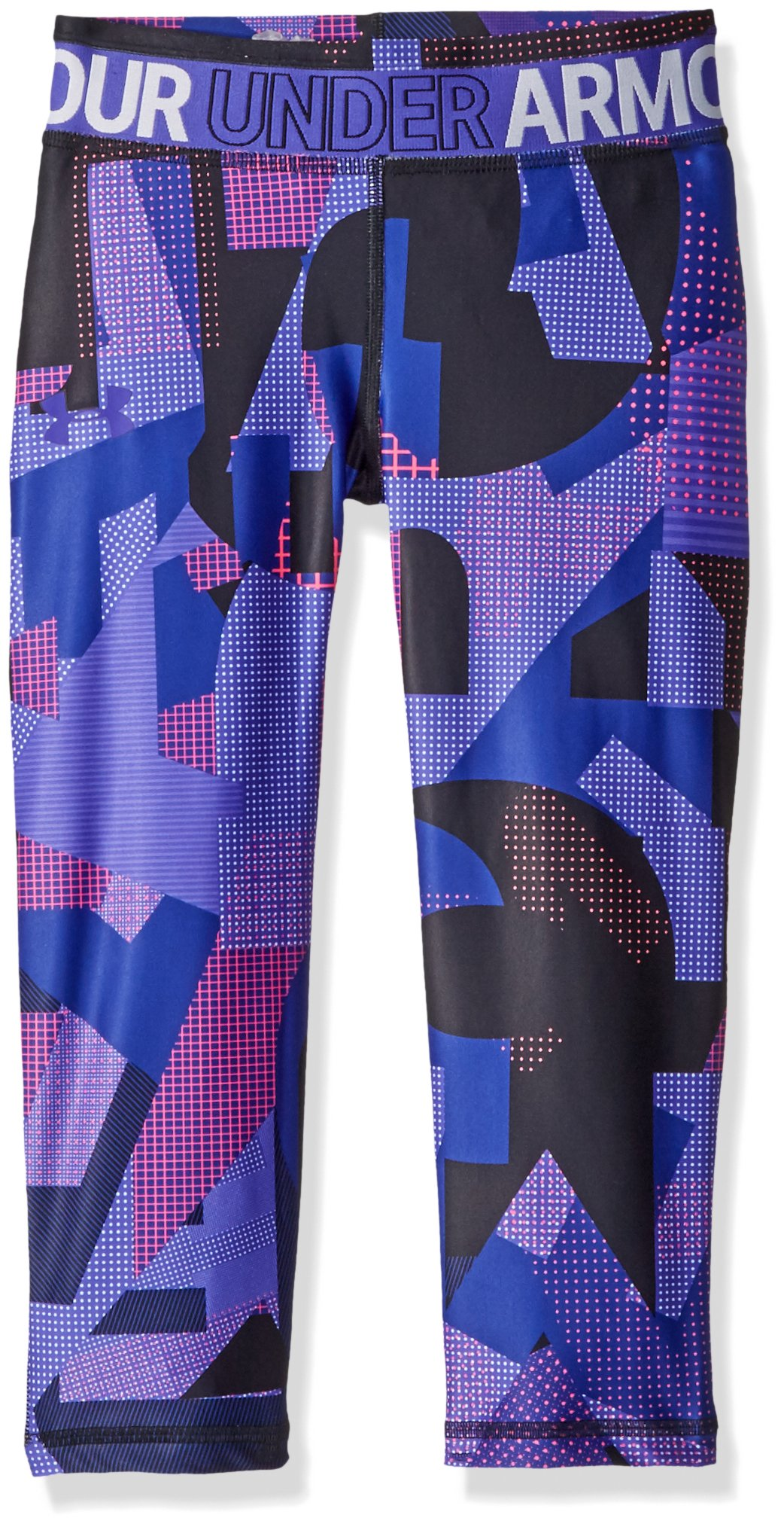 Under Armour Girls' HeatGear Armour Printed Capris, Constellation Purple (530), Youth Medium by Under Armour