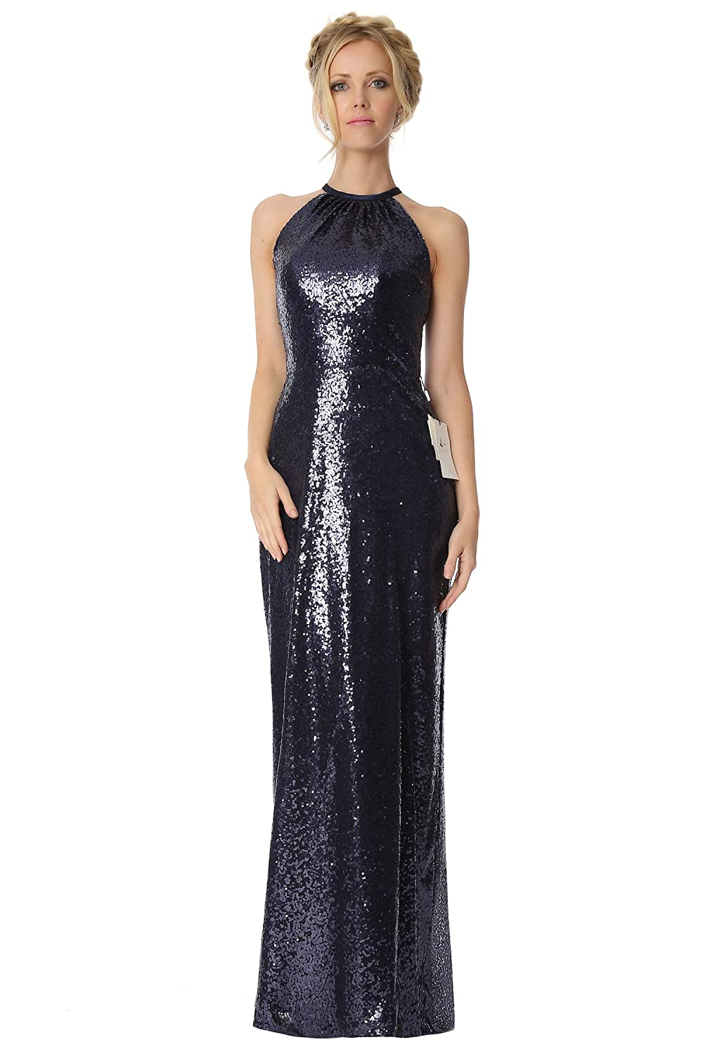 SEXYHER Sequinned Covered Halter Neckline Bridesmaids Formal Evening Dress -EDJ1812