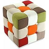 Versa - Taburete cubo red Patchwork