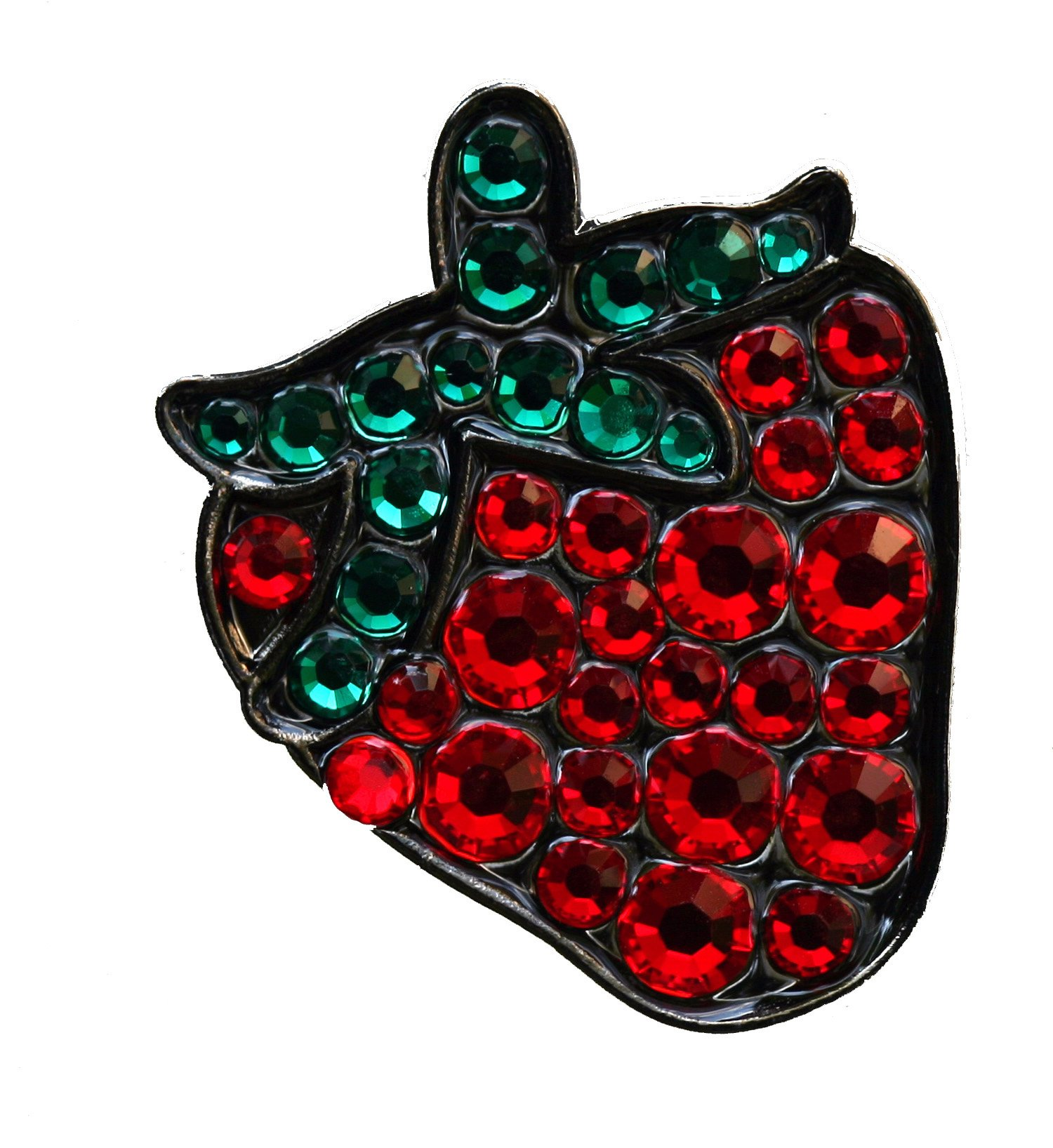 Strawberry with Crystals Summer Fun Golf Ball Marker & Matching Plant Hat Clip
