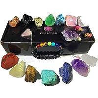 Tesh Care Chakra Therapy Starter Collection 17 pcs Healing Crystals kit, 7 Raw Chakra...