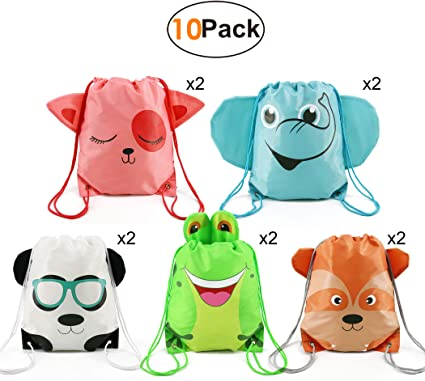 Ideas Candy Drawstring Pouch,... Party Bags Kids Birthday Favours Gift 10 Pack