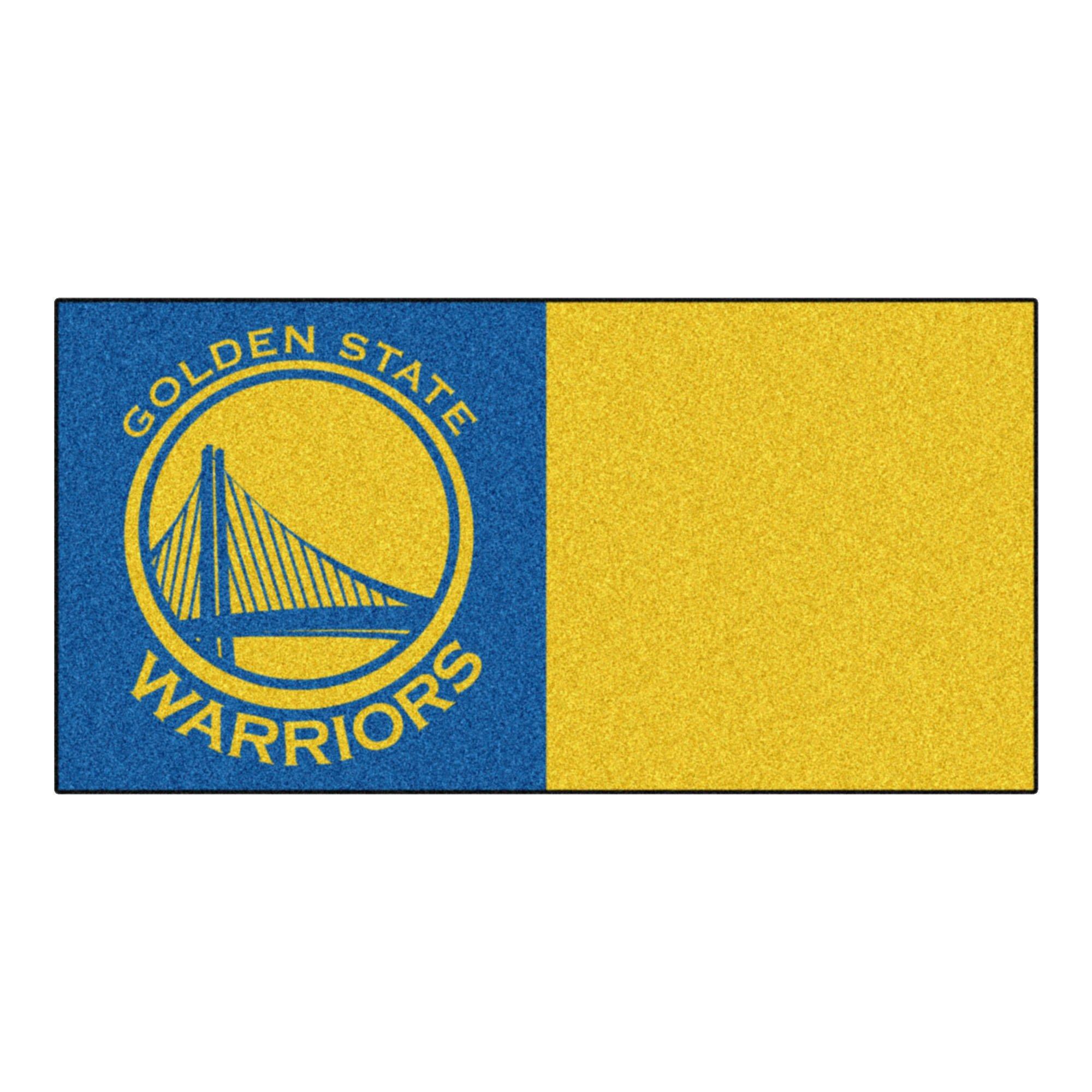 FANMATS NBA Golden State Warriors Nylon Face Team Carpet Tiles