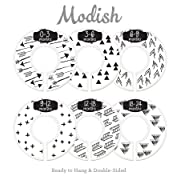 Modish Labels Baby Nursery Closet Dividers, Closet Organizers, Nursery Decor, Gender Neutral, Baby Boy, Baby Girl, Tribal, Arrows, Triangles, Boho Geometric, Nordic, Black, White (White)