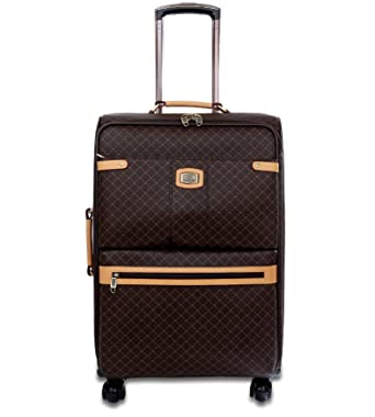 2a623fbb5bae Image Unavailable. Image not available for. Color  Rioni Medium 25 quot   Spinner Luggage - Signature Brown