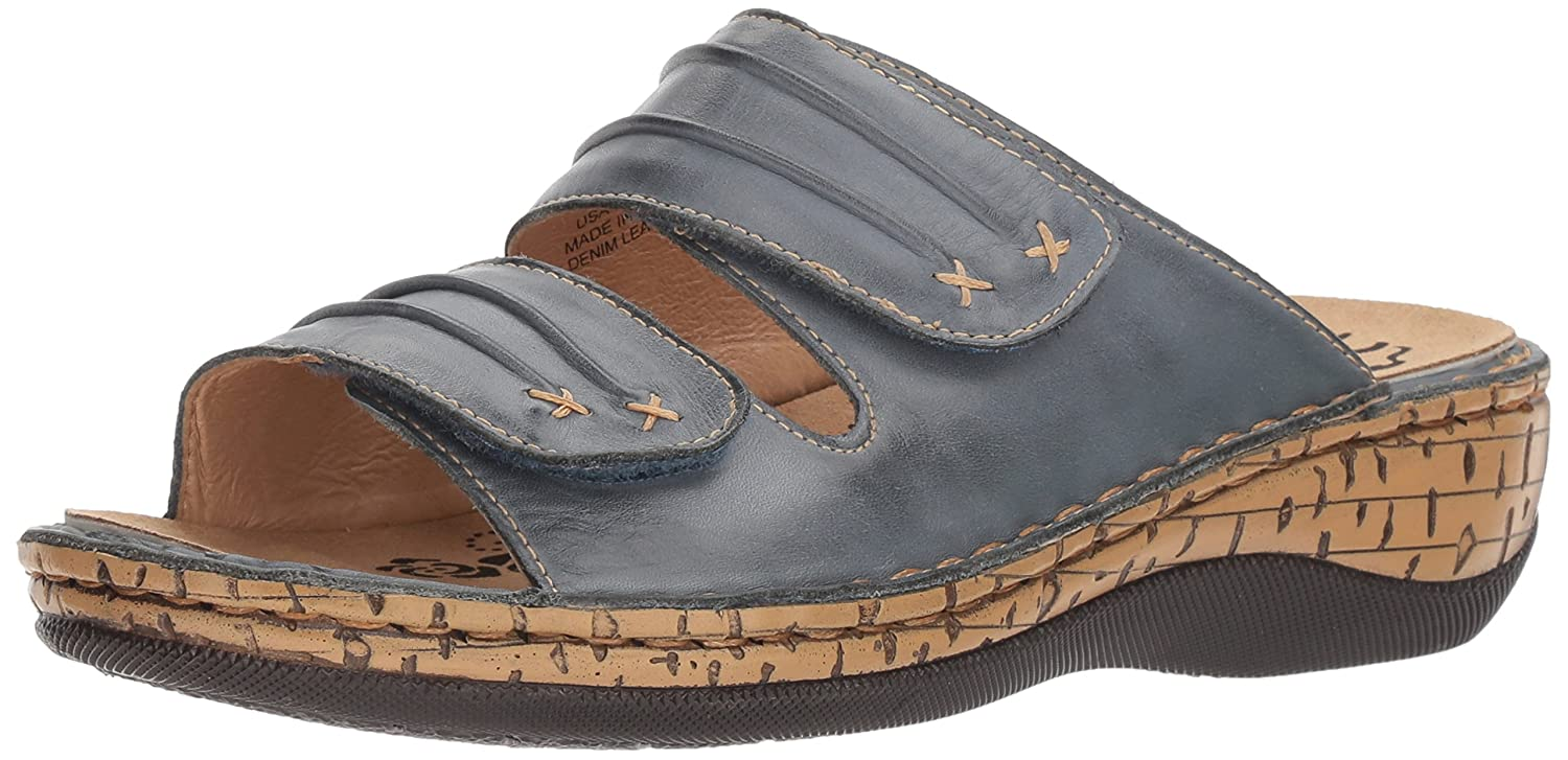 Propet Women's June 6 Slide Sandal B072Q12HGB 6 June 2E US|Denim d21690