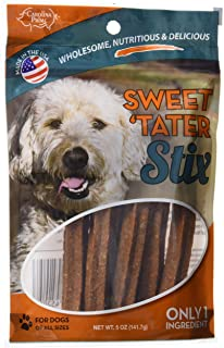 product image for Carolina Prime Pet 45206 Sweet Tater Stix Treat For Dogs ( 1 Pouch), One Size