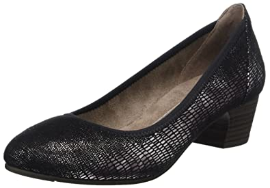 Softline Damen 22361 Pumps, Schwarz (Black Met Stru 097), 40 EU