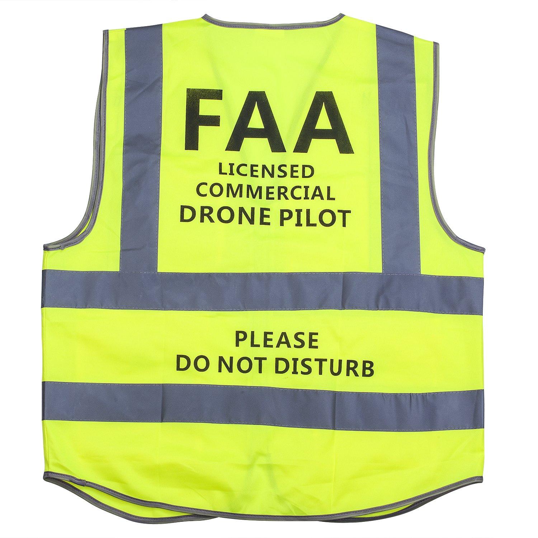 MYRIANN Drone Safety Reflective Vest with Commercial Drone Pilot Please Do Not Disturb,Compatible with DJI inspire,DJI Phantom 3 4, DJI Mavic Pro Holy Stone DBPOWER MJX Force1 Drone (Green, XXL)
