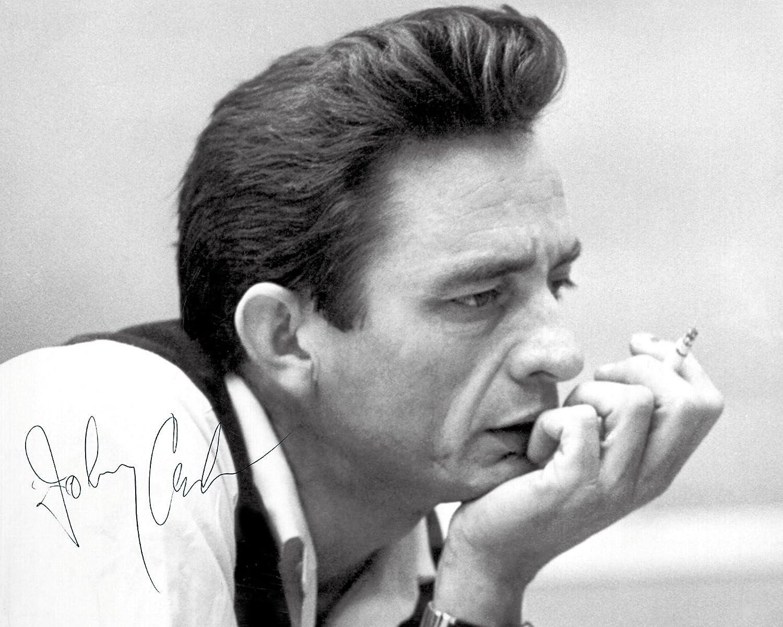 Johnny Cash 10x 8Lab Qualität unterzeichnet Foto Print