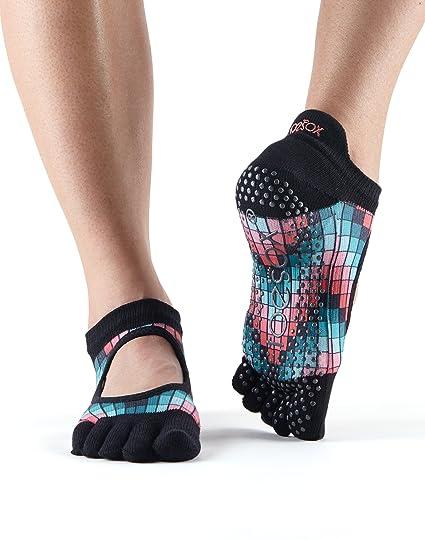 Toesox – Calcetines Agarre Completo Bellarina Toe Calcetines, Calcetines de Baile y se Puede Utilizar para Barre, Yoga, Pilates, Fitness ...