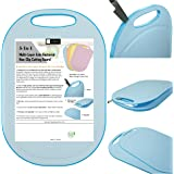Kylermade (5 Layers) Multi-Layer Anti-Bacterial Non-Slip Cutting Board, Innovative 5 Layered Construction, 5 Kitchen Chopping Boards for Price of 1, BPA Free, Dishwasher Safe, Juice Grooves, Blue