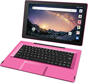 "RCA Galileo 11.5"" 32 GB Touchscreen Tablet Computer with Keyboard Case Quad-Core 1.3Ghz Processor 1GB Memory 32GB HDD Webcam Wifi Bluetooth Android 8.1 - Pink"