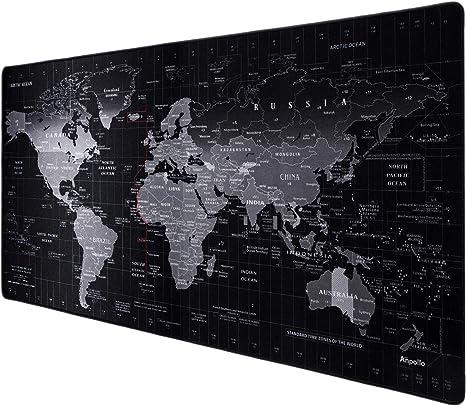 Gaming-Mauspad /& Büro Office Pad 900x400mm Mausunterlage Mousepad Weltkarte EE
