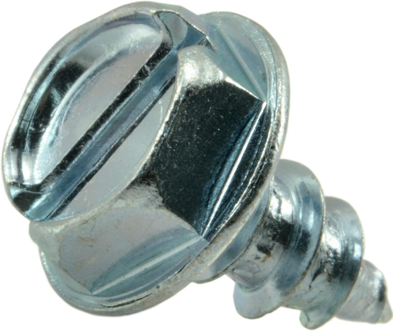 8 x 1//2 Hard-to-Find Fastener 014973120528 Slotted Hex Washer Sheet Metal Screws Piece-100