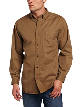 590752d2576 Carhartt Men s Hines Solid Long-Sleeve Shirt Long-Sleeve Button-Front Twill  at Amazon Men s Clothing store  Button Down Shirts